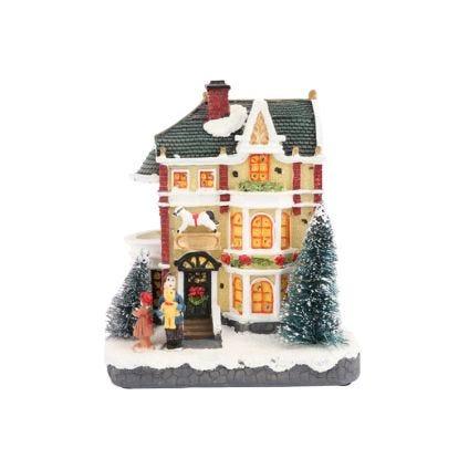 Villa navideña con luz Bliss
