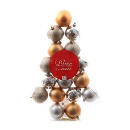 Set de esferas navideñas Bliss