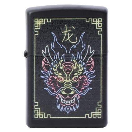 Zippo Encendedor Neon Dragon Design