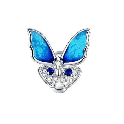 Charm mariposa azul radiante CR Charms