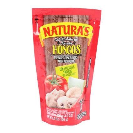Salsa de tomate con hongos Naturas