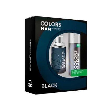 Set Colors Man Black Benetton