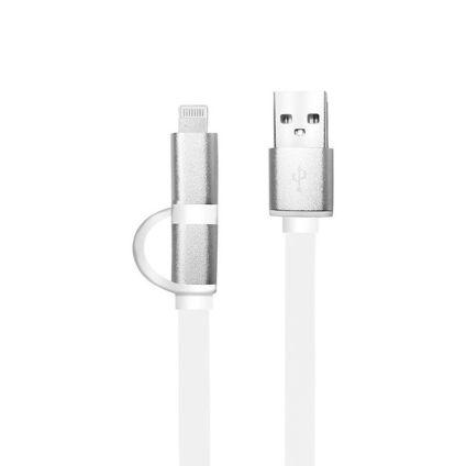 Cable 2 en 1 Lightning y micro USB ARGOM