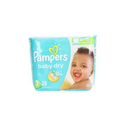 Pañales Baby Dry Talla 3 Pampers