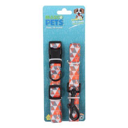 Correa y Collar para perro Masco Pets