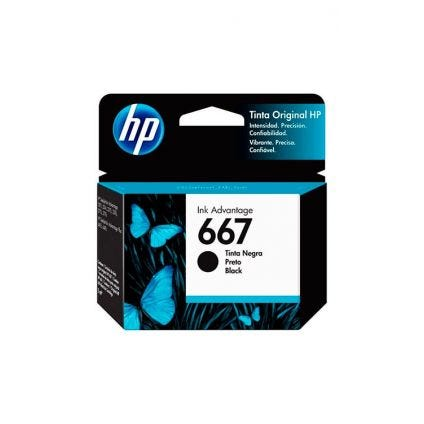 Cartucho de tinta 667 negro HP