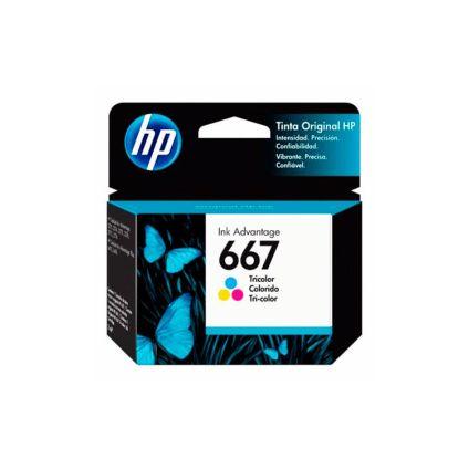 Cartucho de tinta 667 tricolor HP