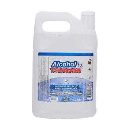 Galón alcohol limpia superficies TSUNAMI