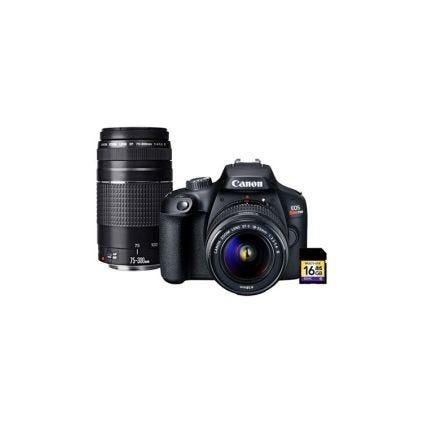 Cámara y lente profesional T100 Canon